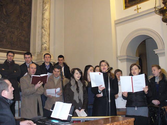 il coro della comunità rumena