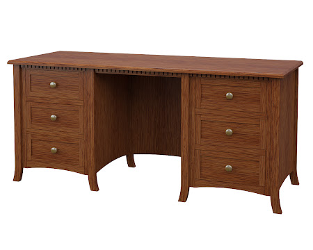 Lisbon Executive Desk in Washington Quarter Sawn Oak