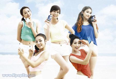 สาวๆ KARA เที่ยวทะเลในมือถือ 'Optimus Bright'