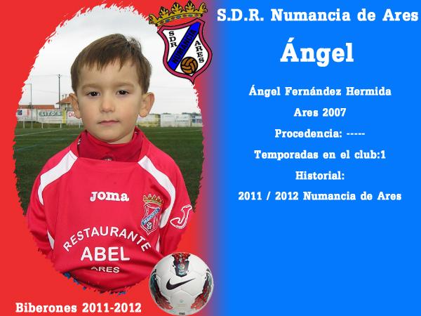 A. D. R. Numancia de Ares. Biberones 2011-2012. Ángel