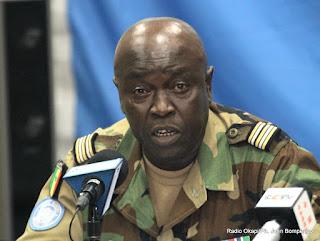 Colonel Basse, porte parole militaire de la Monusco. Radio Okapi/Ph. John Bompengo