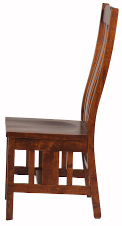 Plains Mission Chair in Rich Cherry