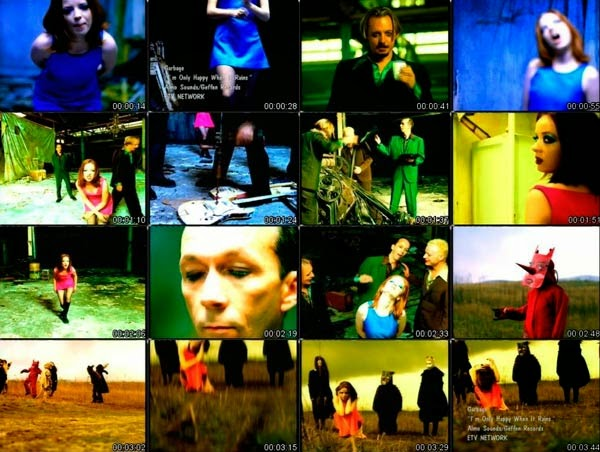 Garbage videoclip de Only happy when it rains