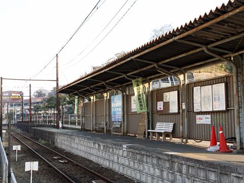 熊本電気鉄道 上熊本駅ホーム