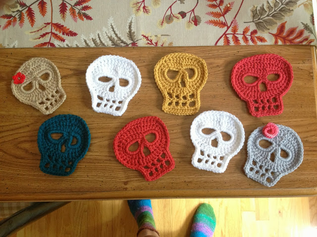 The sugar skull - free crochet pattern - Magic with hook and needles | 480x640