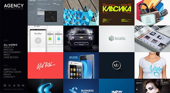 Agency Fullscreen Grid Based WordPress Theme