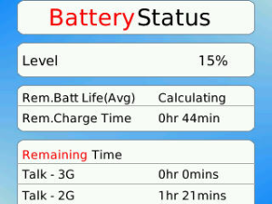 Battery Status v2.1.3 BlackBerry
