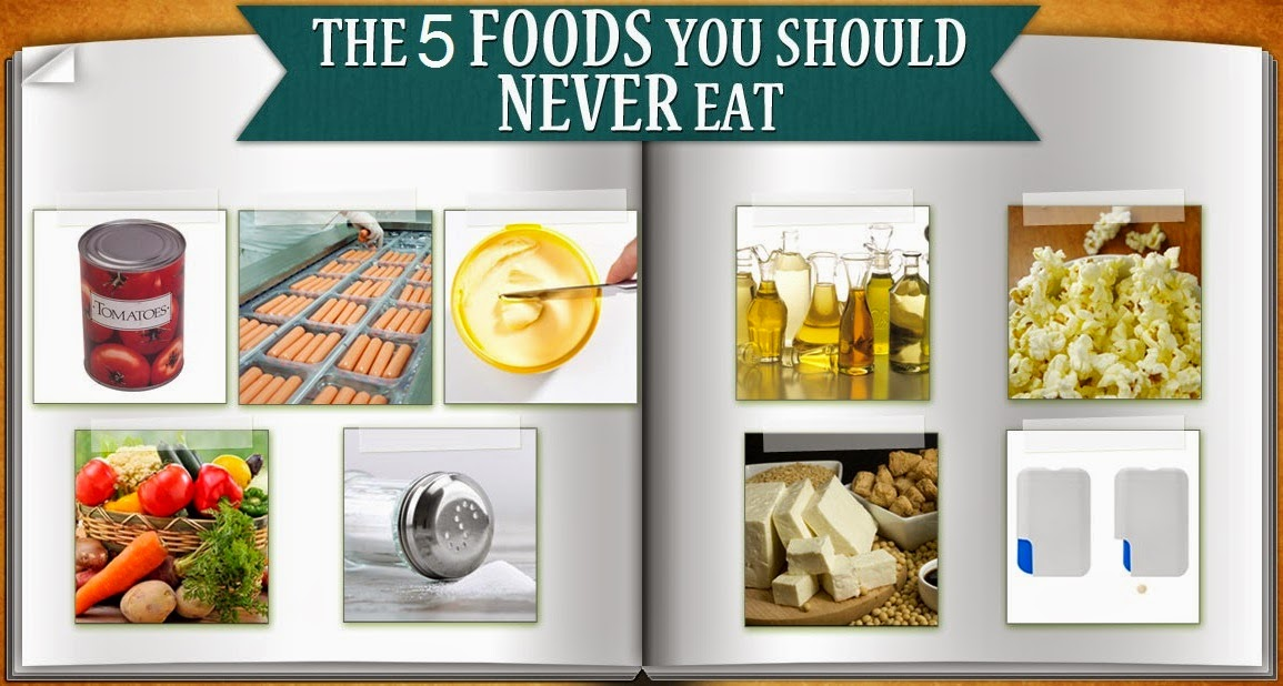 Top Five Things Never to Eat