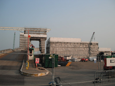 Construction work on pier 3 at Dover Harbour