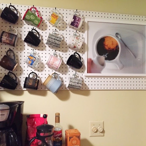 Coffee Mug Pegboard