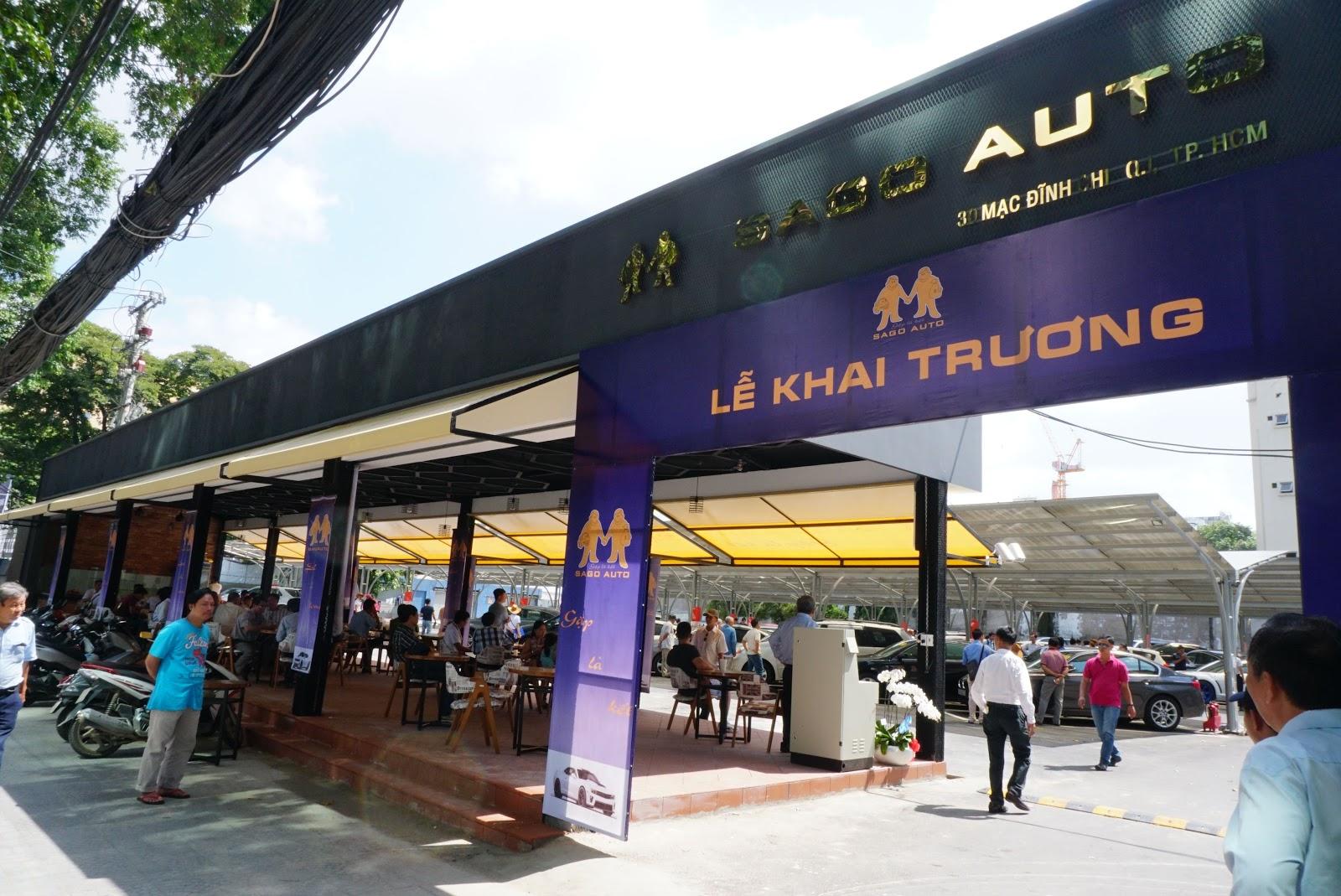 Chợ xe Sago Auto chợ xe quy mô chuyên nghiệp đầu tiên tại Việt nam, tọa lạc tại 30 Mạc Đỉnh Chi, Quận 1, Tp Hồ Chí Minh