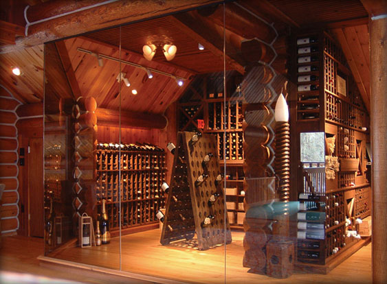 Traditional Wine Cellar Rustic Boston By New & Rustic Wine Cellar - Vase and Cellar Image Avorcor.Com