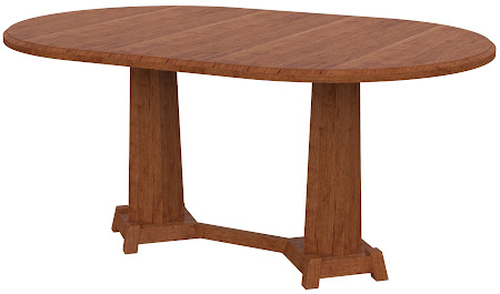 Turin Round Conference Table in Itasca Maple