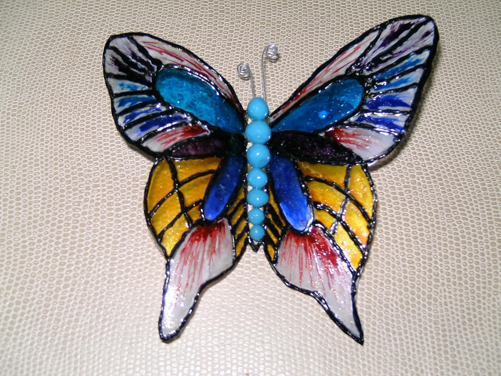 Leo-Vi-Se: Mariposa y libélulas, reciclaje de botella de plástico