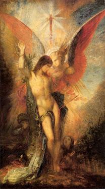 moreau, saint, sebastian, angel, 1876, confrontation, wings, light, story