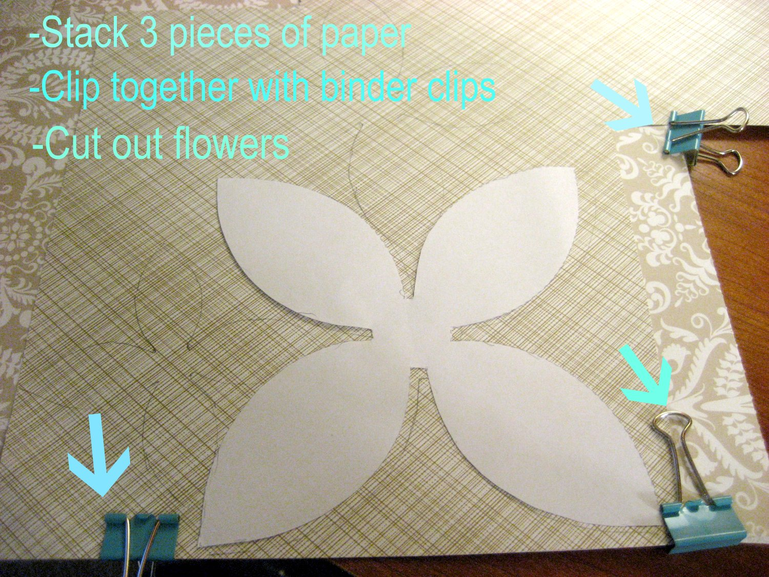 Paper Flowers Template You have 3x the flowers. haha!