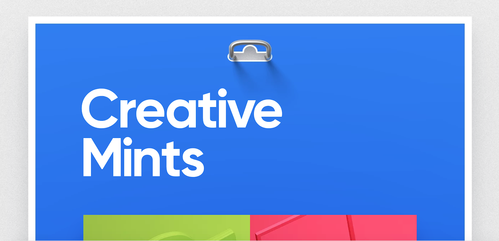 Web Developer Portfolio of Creative Mints