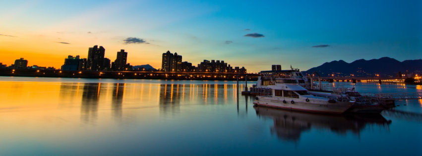 Sunset in Taipei facebook cover