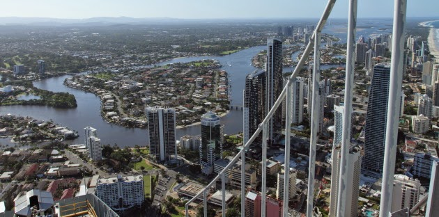 Gold coast view from SkyPoint Q1