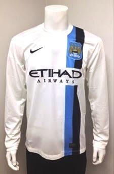 Jual Jersey Manchester City Lengan Panjang Putih