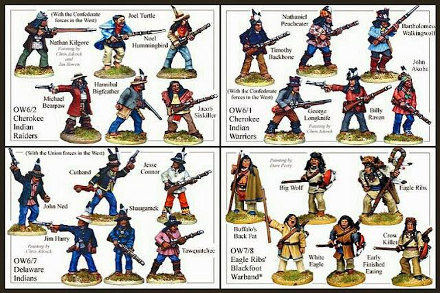 Cherokees, Delawares y Blackfoots indians Foundry