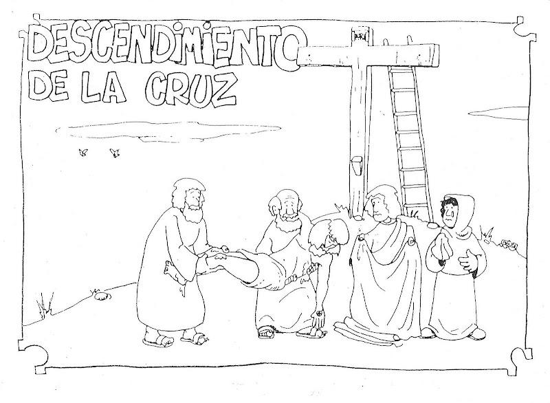 Descendimiento de la cruz para colorear