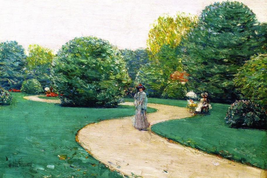 Childe Hassam - Parc Monceau, Paris