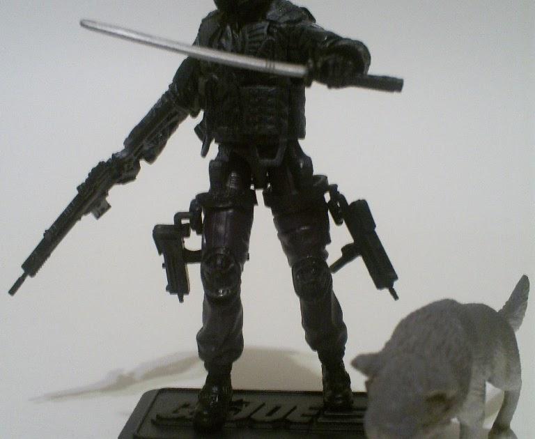 GI Joe Accessory  2010 Snake Eyes V52                Assault Rifle Gun