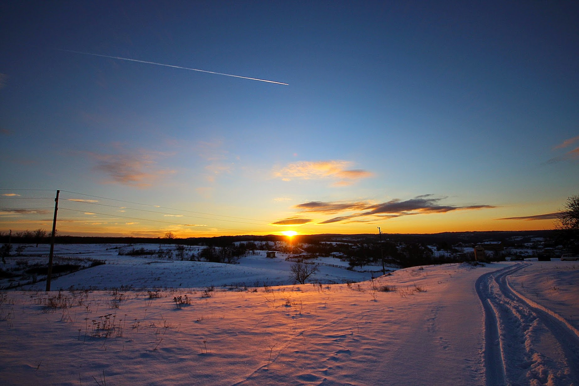 снимки, природа, сняг