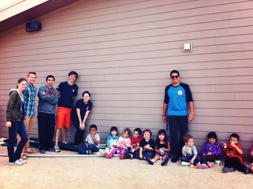 CSUF Salsa Volunteering at the Children's Center