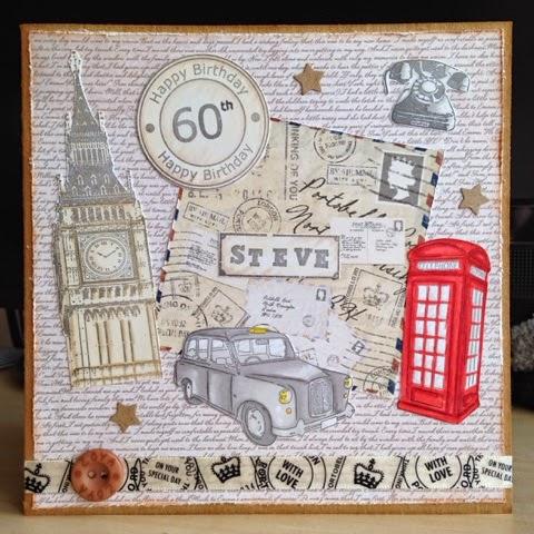 Little Lucys Handmade Cards London Themed 60th Birthday Card – London Birthday Cards