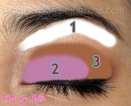 Random beauty by hollie rbbh look simple and easy makeup for work the eye diagram will surely guide you to the eyeshadow application just remember to always blend blend blend ccuart Images