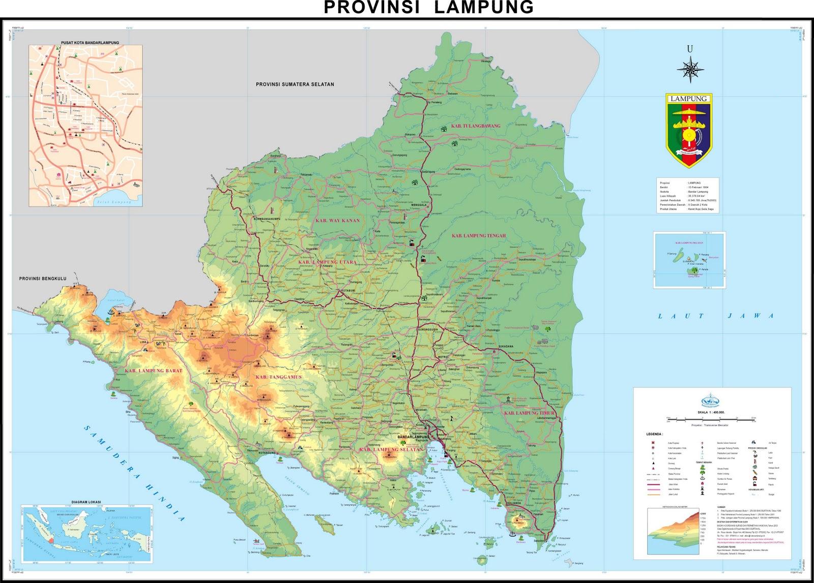 TAKJUB INDONESIA: PETA PROPINSI LAMPUNG