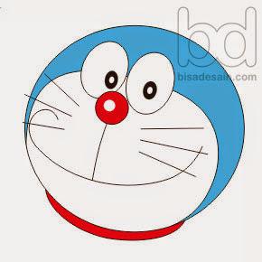 Gambar 06. Menggambar Doraemon dengan Corel Draw