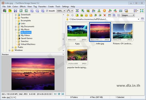 ดาวน์โหลด FastStone Image Viewer 6 โหลดโปรแกรม FastStone ล่าสุดฟรี