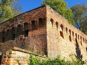 mury zamku Joannitów w Łagowie