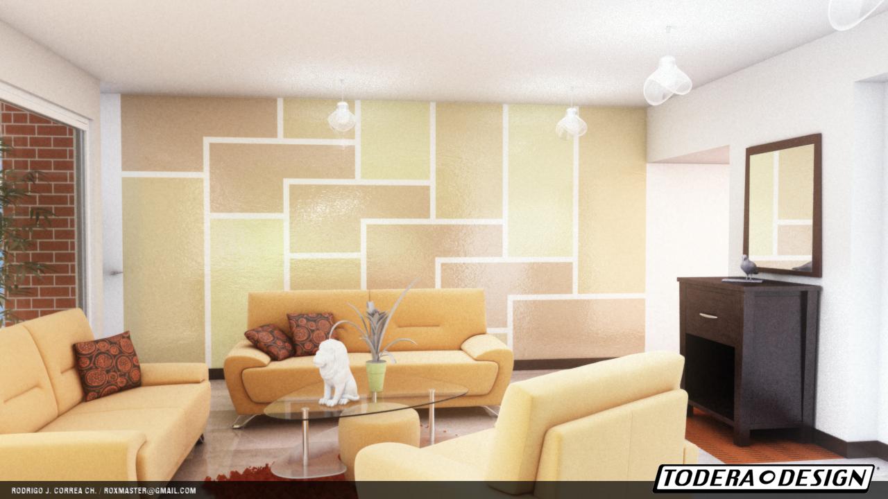 Rodrigo correa dise o de sala y dise o sobre pared for Diseno de paredes para salas