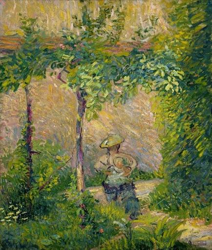 Hippolyte Petitjean - Woman in a Garden