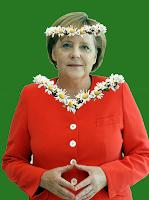 Bundeskanzlerin Merkel von der grünen Umweltpartei CDU