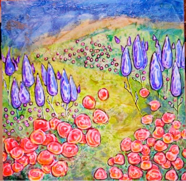 painting Dr Suess's garden Robin Baratta artist