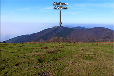 Malkorra visto desde la cima de Milpiribil (Pinpil