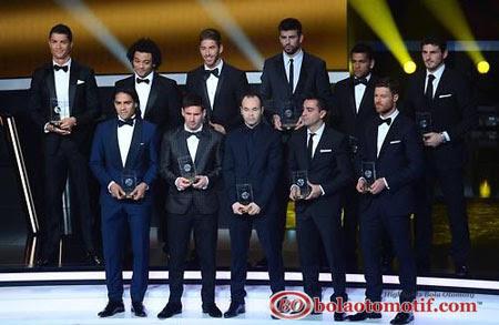 Pemain Terbaik Dunia Tim Super Star FIFA 2012-2013