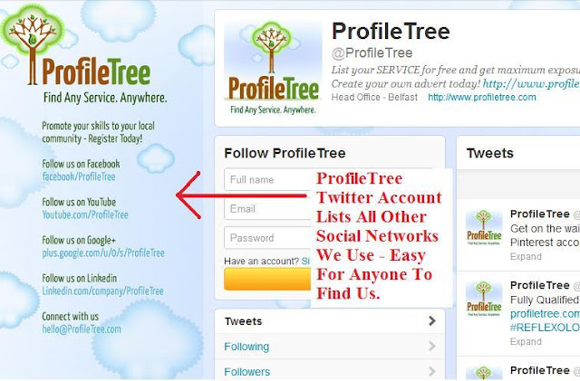 Mention-other-Social-Networks, Promote-Your-Page, Promote-your-Facebook, Promote-Your-Twitter , Profiletree
