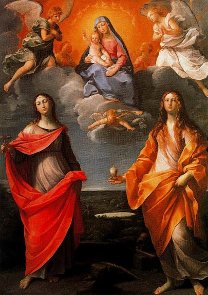 Guido Reni - Virgin of snow, with Santa Lucia and St Mary Magdalene