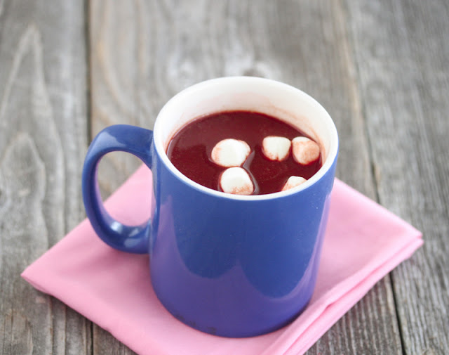 photo of Red Velvet Hot Chocolate with marshmallows