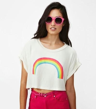 inspiração: arco-íris - camiseta baby look