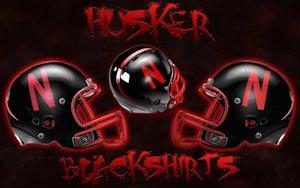 Nebraska Cornhuskers Husker Blackshirts Black Helmets