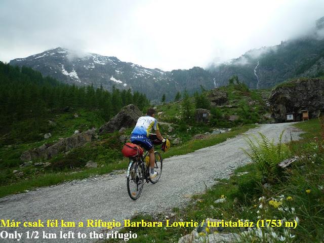 Györgyi Gábor & Francia Alpok kerékpártúra, Rifugio Barbara Lowrie
