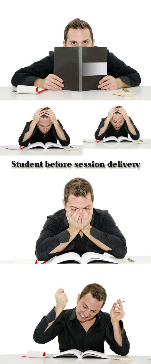 Stock Photo: Student before session delivery