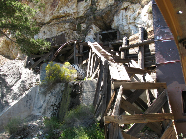 shafts on the far side of the mine